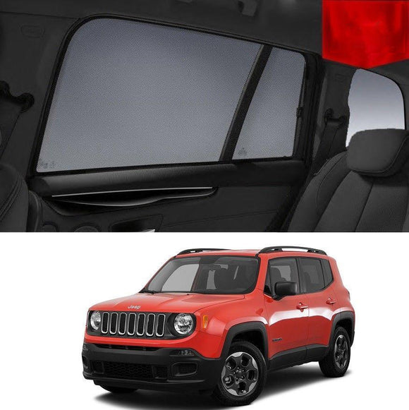 JEEP RENEGADE 4D 2015-2020 BU   Car Shades | Snap On Magnetic Sun Shades Window Blind