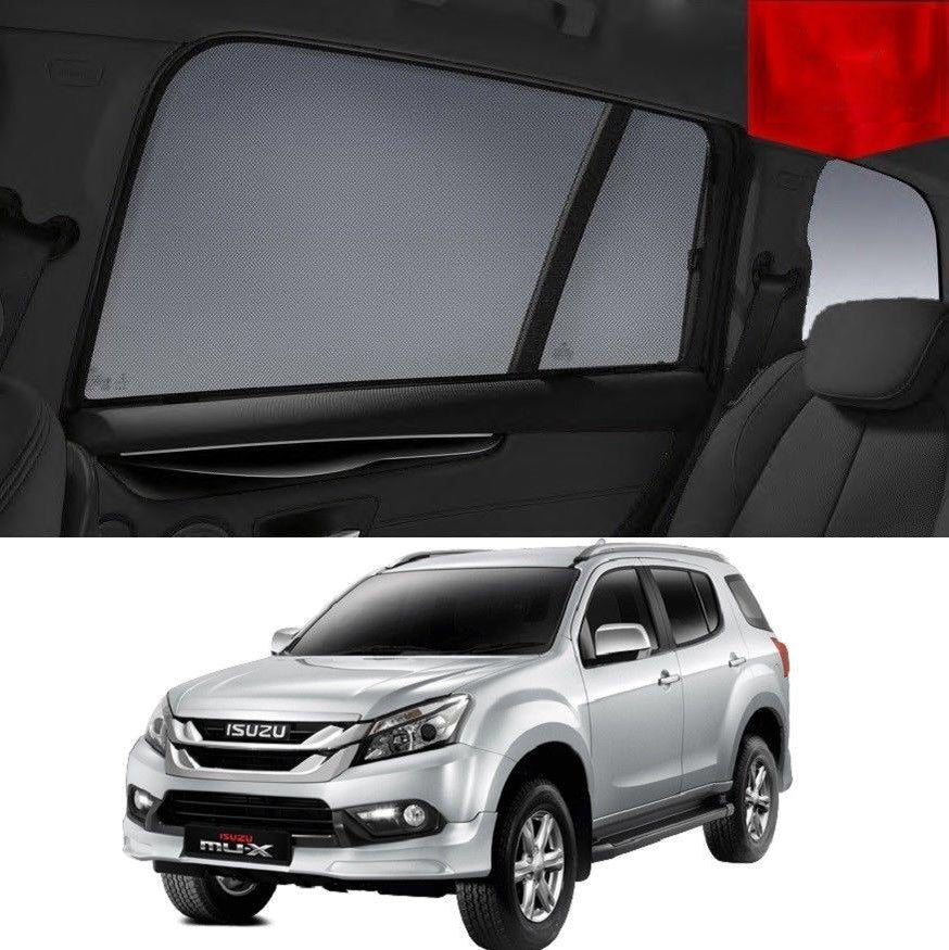 For ISUZU MU-X 2013-2020 Rear Side Car Window Sun Blind Sun Shade For baby Mesh