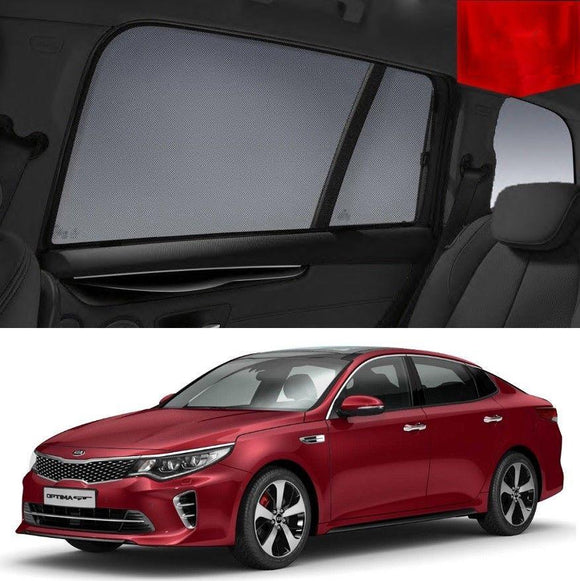 KIA Optima 2015-2019 JF   Car Shades | Snap On Magnetic Sun Shades Window Blind