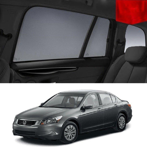 For HONDA Accord 8th Gen 2008-2013 Magnetic Rear Car Window Sun Blind Sun Shade Mesh