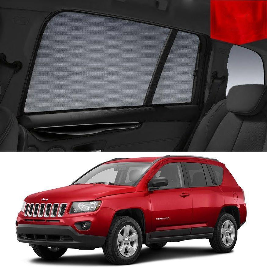 For JEEP Compass 2010-2016  Rear Side Car Window Sun Blind Sun Shade For baby Mesh