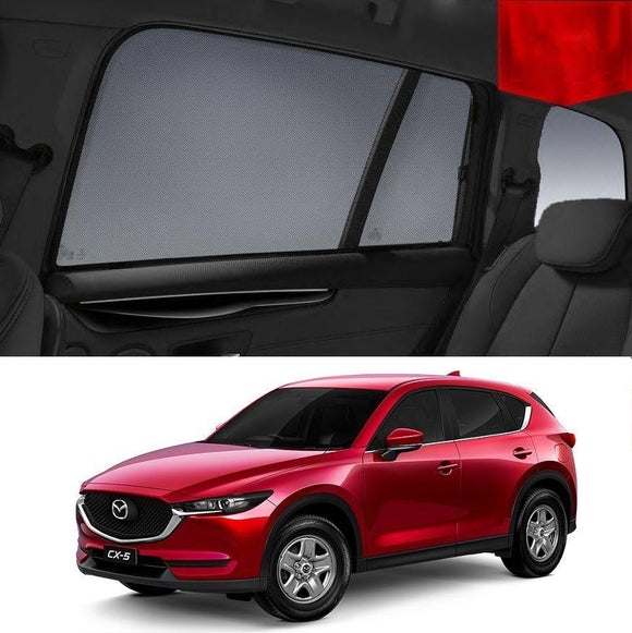 Mazda CX-5 KF 2017-2019 Magnetic Rear Side Car Window Sun Blind Sun Shade Mesh