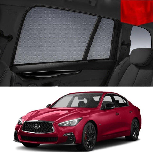 INFINITI Q50 2013-2020 Car Shades | Snap On Magnetic Sun Shades Window Blind
