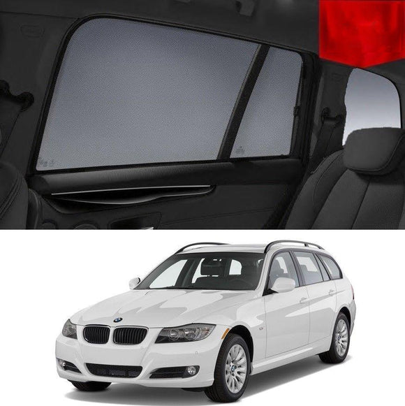 BMW 3 Series 2006-2012 E91 Wagon  Car Shades | Snap On Magnetic Sun Shades Window Blind