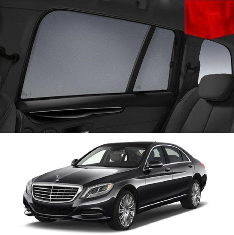For MERCEDES-BENZ S-Class 2013-2019 W222 Rear Car Window Sun Blind Sun Shade Mesh