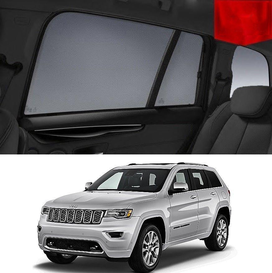 For JEEP Grand Cherokee 2013-2020 WK2 Rear Side Car Window Sun Blind Sun Shade Mesh
