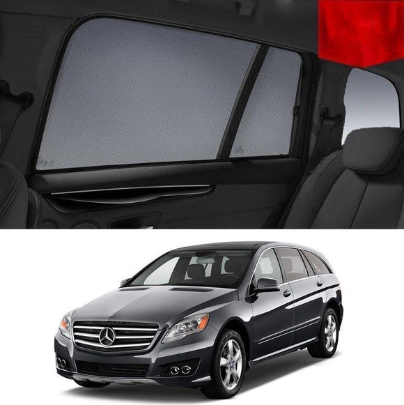 MERCEDES-BENZ R-Class 2014-2019   Car Shades | Snap On Magnetic Sun Shades Window Blind