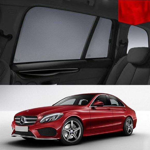 MERCEDES-BENZ C-Class 2014-2018 W205   Car Shades | Snap On Magnetic Sun Shades Window Blind