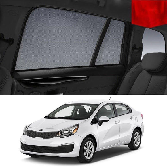 KIA RIO 2010-2017 UB   Car Shades | Snap On Magnetic Sun Shades Window Blind