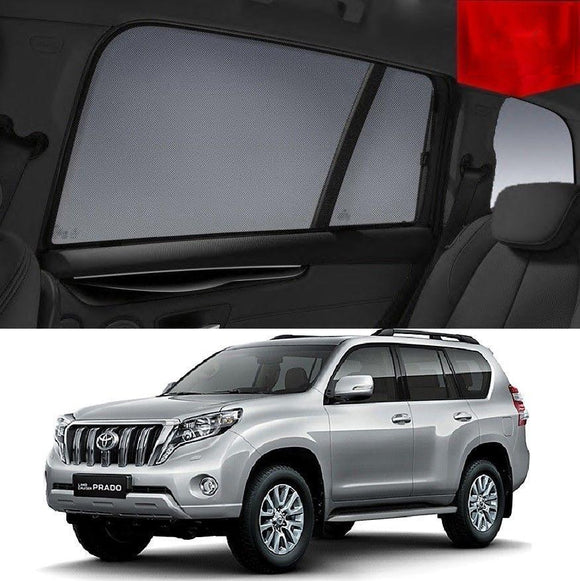 TOYOTA Landcruiser PRADO J150 2013-2017   Car Shades | Snap On Magnetic Sun Shades Window Blind