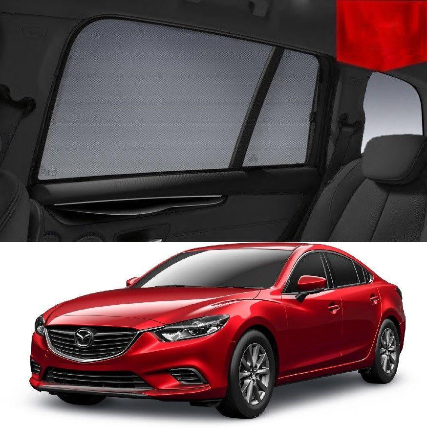 For Mazda 6  Sedan 2013-2018 Magnetic Rear Side Car Window Sun Blind Sun Shade Mesh