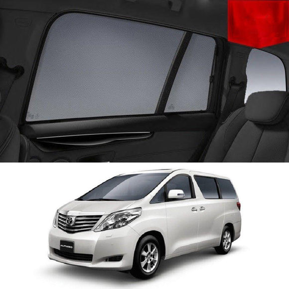 TOYOTA ALPHARD 2008-2015 Car Shades | Snap On Magnetic Sun Shades Window Blind
