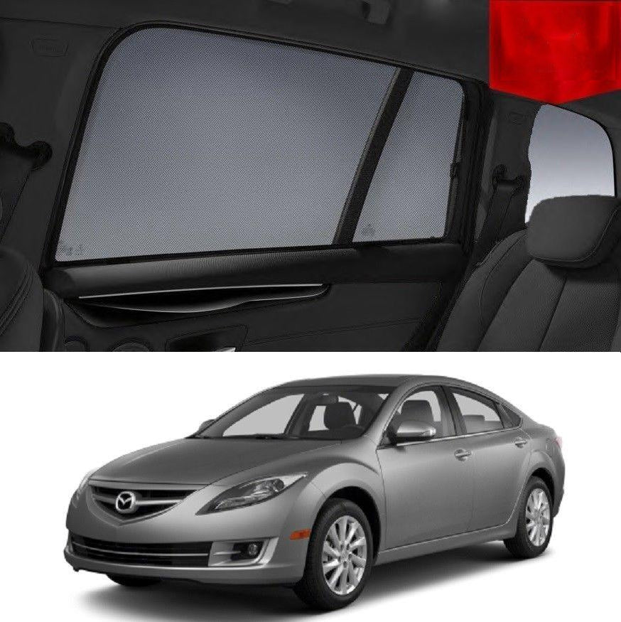 For Mazda 6 GH Sedan 2008-2012 Magnetic Rear Car Window Sun Blind Sun Shade Mesh