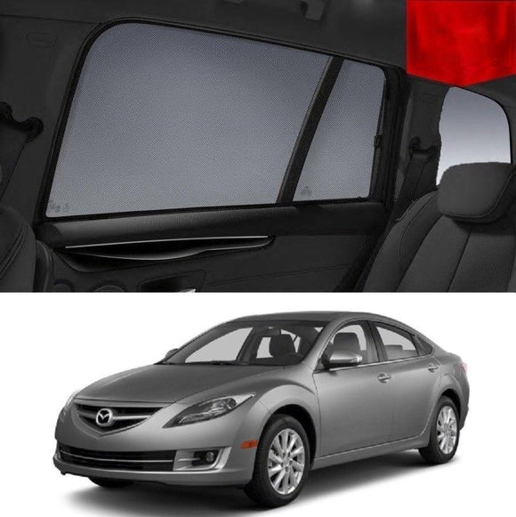 Mazda 6 GH Sedan 2008-2012 Magnetic Rear Car Window Sun Blind Sun Shade Mesh