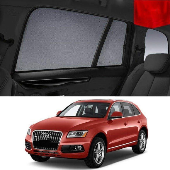 AUDI Q5 2009-2012 8R  Car Shades | Snap On Magnetic Sun Shades Window Blind