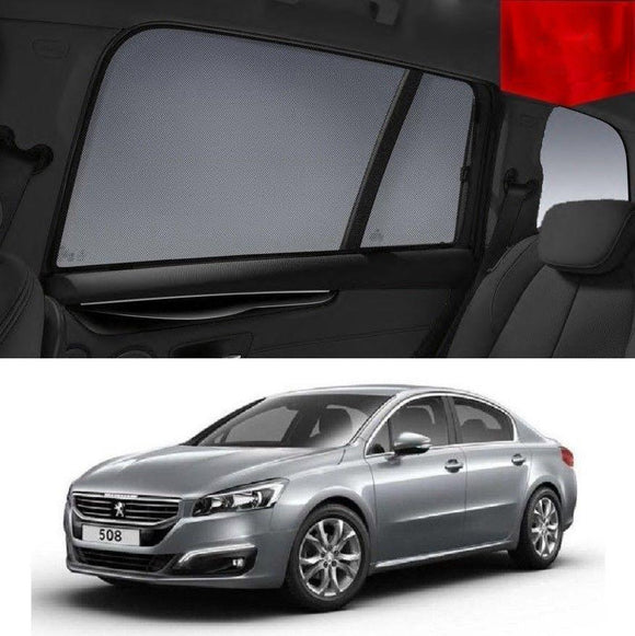 PEUGEOT 508 2010-2017   Car Shades | Snap On Magnetic Sun Shades Window Blind