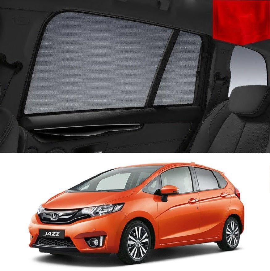 For HONDA JAZZ GF 2014-2020 Magnetic Rear Side Car Window Sun Blind  Sun Shade Mesh