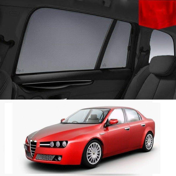 ALFA ROMEO 159 Sedan 2006-2012 Car Shades | Snap On Magnetic Sun Shades Window Blind