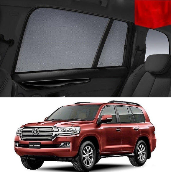 TOYOTA Landcruiser 200 2016-2020 Car Shades | Snap On Magnetic Sun Shades Window Blind