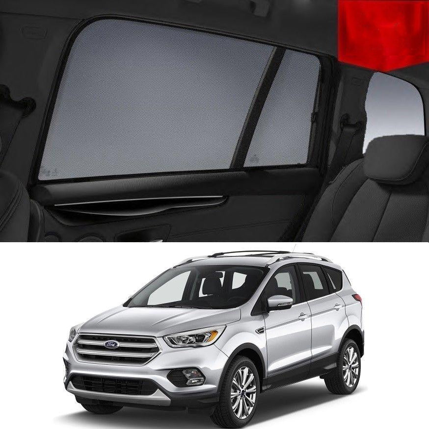For FORD Escape/ Kuga 2013-2020 Rear Side Car Window Sun Blind Sun Shade For baby Mesh