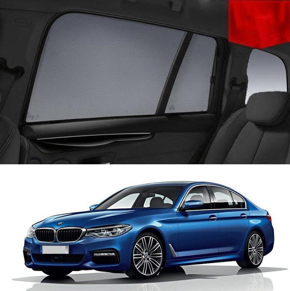 BMW 5 Series 2016-2020 G30  Car Shades | Snap On Magnetic Sun Shades Window Blind