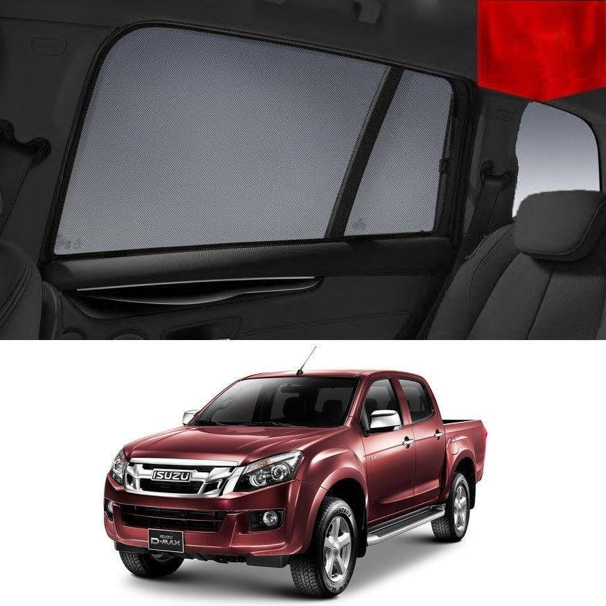 For ISUZU D-MAX 2014-2019 Rear Side Car Window Sun Blind Sun Shade For baby Mesh