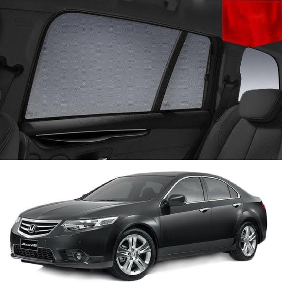 HONDA Accord Euro 8th Gen 2008-2015   Car Shades | Snap On Magnetic Sun Shades Window Blind
