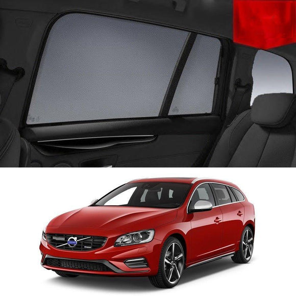 VOLVO 2013-2018 V60   Car Shades | Snap On Magnetic Sun Shades Window Blind