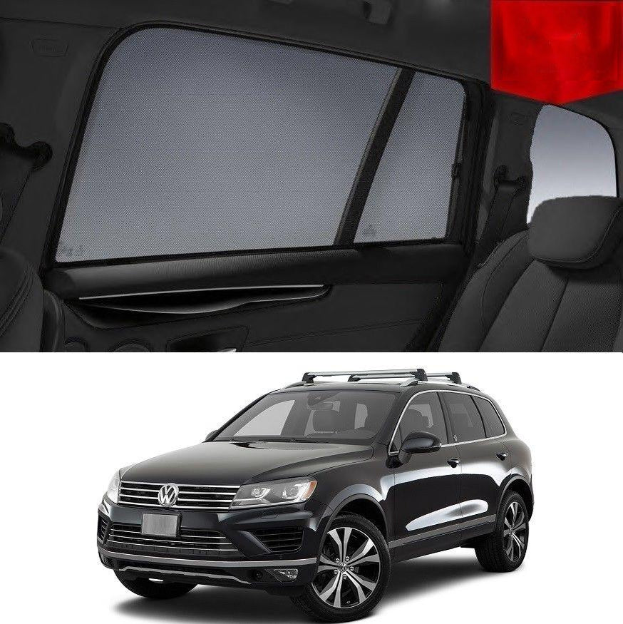 For Volkswagen 2010-2014 Touareg Magnetic Rear Car Window Sun Blind Sun Shade Mesh