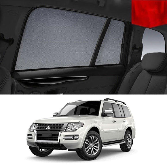 Mitsubishi Pajero 2014-2020 NX Car Shades | Snap On Magnetic Sun Shades Window Blind