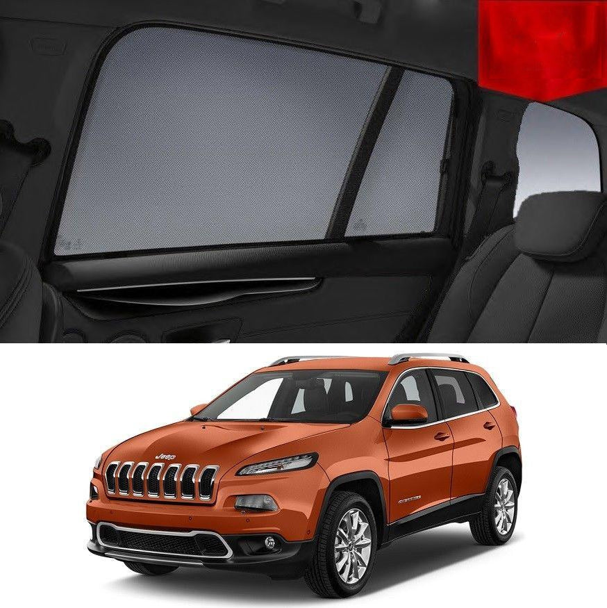For JEEP Cherokee 2014-2019 KL Rear Car Window Sun Blind Sun Shade For baby Mesh