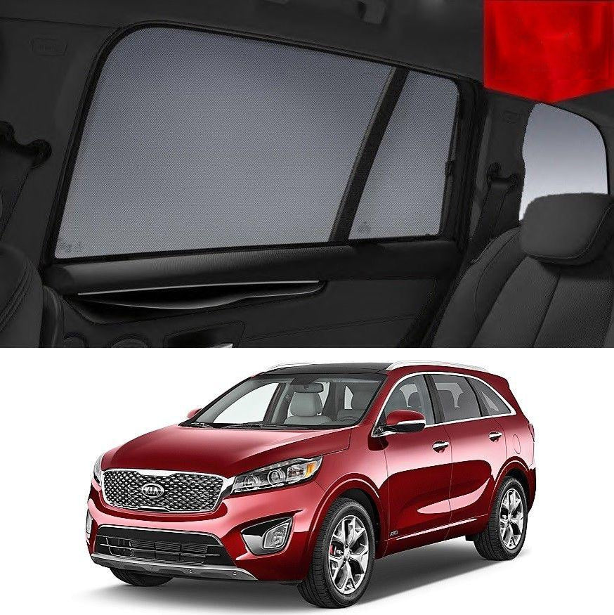 For KIA Sorento 2015-2019 UM Magnetic Rear Side Car Window Sun Blind Sun Shade