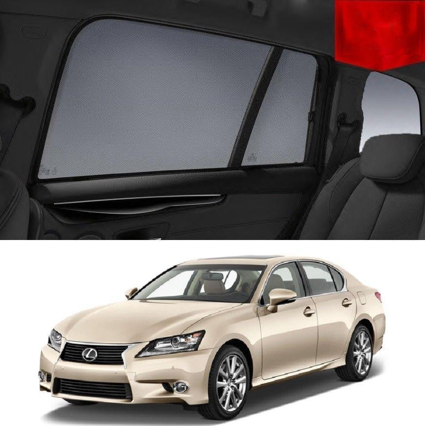 For LEXUS 2011-2015 GS Rear Side Car Window Sun Blind Sun Shade For Baby Mesh