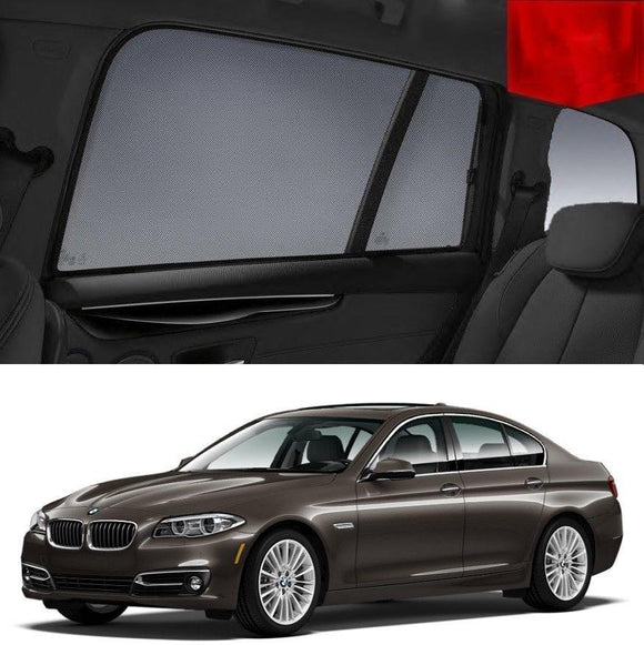 BMW 5 Series 2010-2016 F10  Car Shades | Snap On Magnetic Sun Shades Window Blind