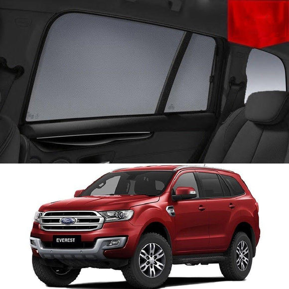 FORD Everest 2015-2020 UA   Car Shades | Snap On Magnetic Sun Shades Window Blind
