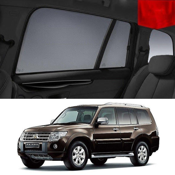 Mitsubishi Pajero 2011-2014 NW Car Shades | Snap On Magnetic Sun Shades Window Blind