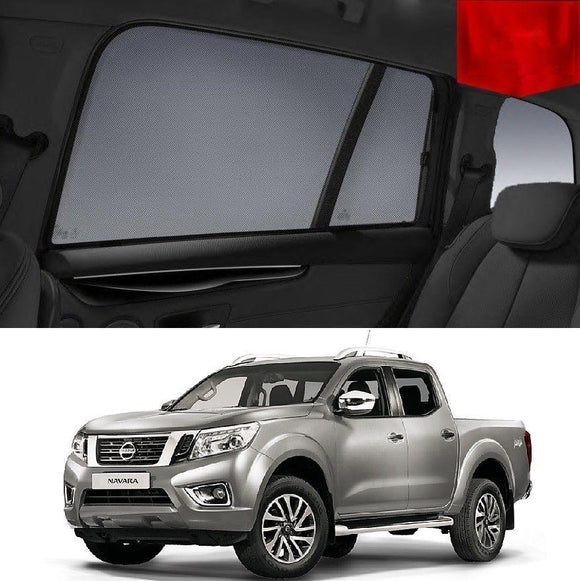 Nissan NAVARA Dual Cab D23 2015-2018 Magnetic Rear Car Window Sun Shade Mesh