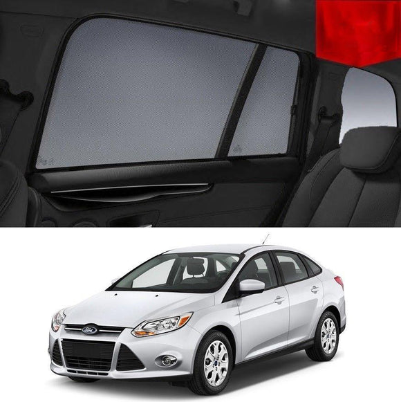 FORD Focus Sedan 2010-2015 LW   Car Shades | Snap On Magnetic Sun Shades Window Blind