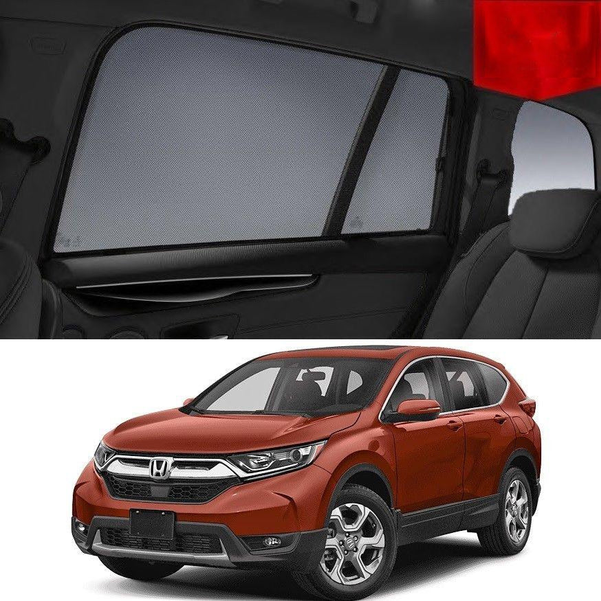 For HONDA CRV 2017-2020 RW Magnetic Rear Side Car Window Sun Blind Sun Shade Mesh