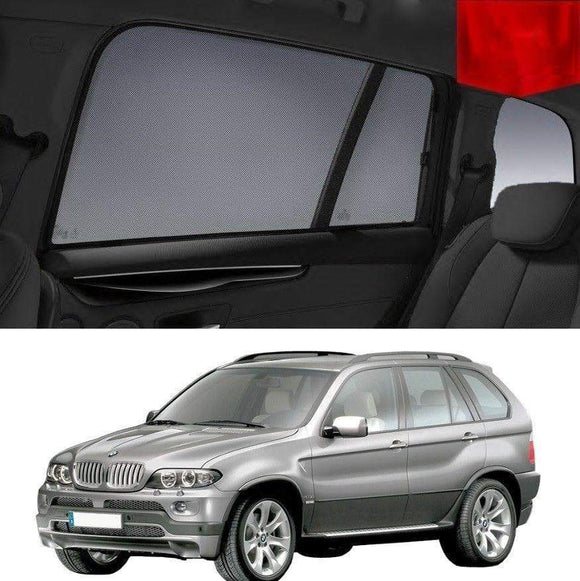 BMW X5 2000-2007 E53  Car Shades | Snap On Magnetic Sun Shades Window Blind