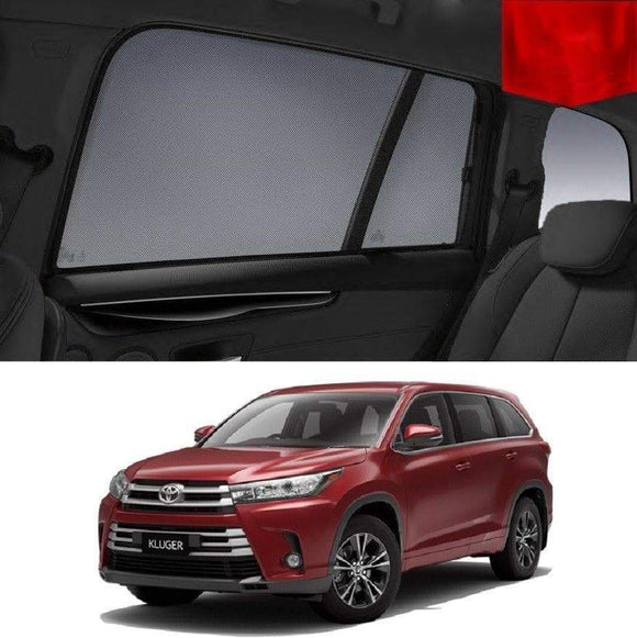 TOYOTA KLUGER 2014-2020 GSU50R/55R  Car Shades | Snap On Magnetic Sun Shades Window Blind