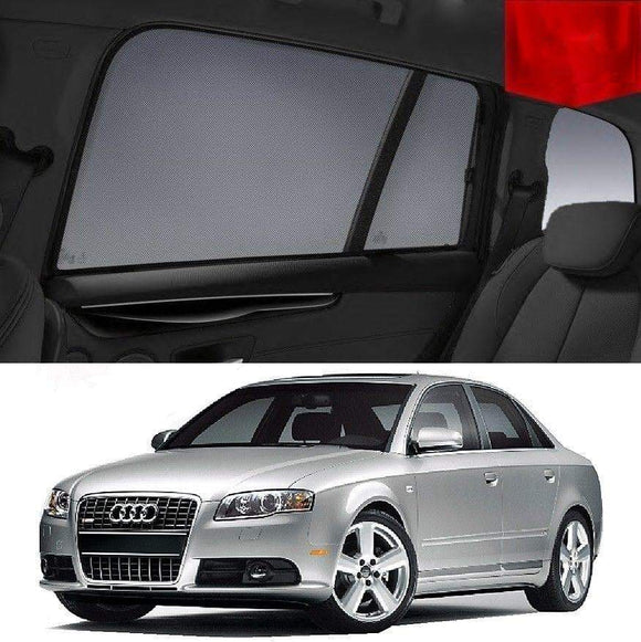 AUDI A4 2005-2008 B7  Car Shades | Snap On Magnetic Sun Shades Window Blind