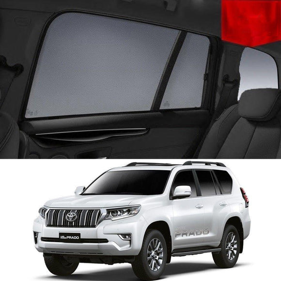 TOYOTA Landcruiser PRADO J150 2017-2020   Car Shades | Snap On Magnetic Sun Shades Window Blind