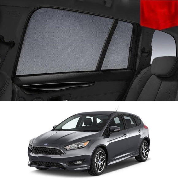 FORD Focus Hatchback 2015-2019 LZ   Car Shades | Snap On Magnetic Sun Shades Window Blind