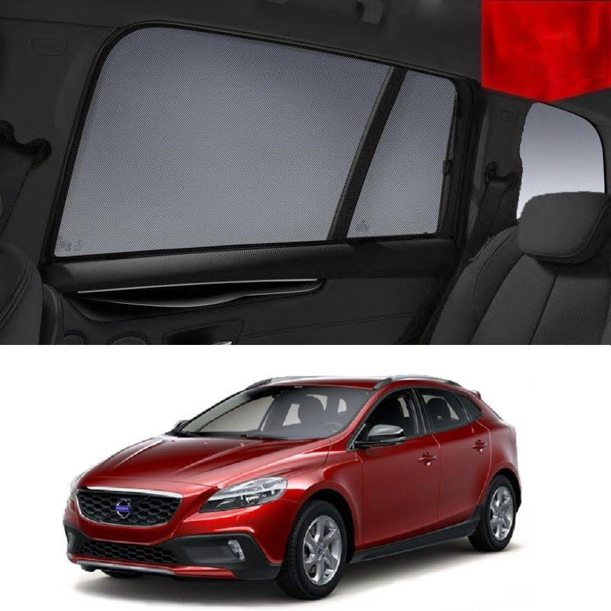 For VOLVO 2013-2018 V40  Rear Side Car Window Sun Blind Sun Shade For baby Mesh