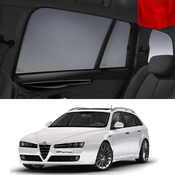 ALFA ROMEO 159 Wagon 2006-2012   Car Shades | Snap On Magnetic Sun Shades Window Blind