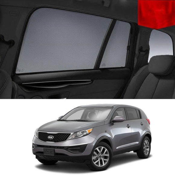 KIA Sportage 2010-2015 SL   Car Shades | Snap On Magnetic Sun Shades Window Blind