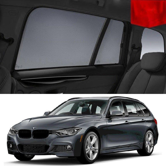 BMW 3 Series 2012-2019 F31 Wagon  Car Shades | Snap On Magnetic Sun Shades Window Blind