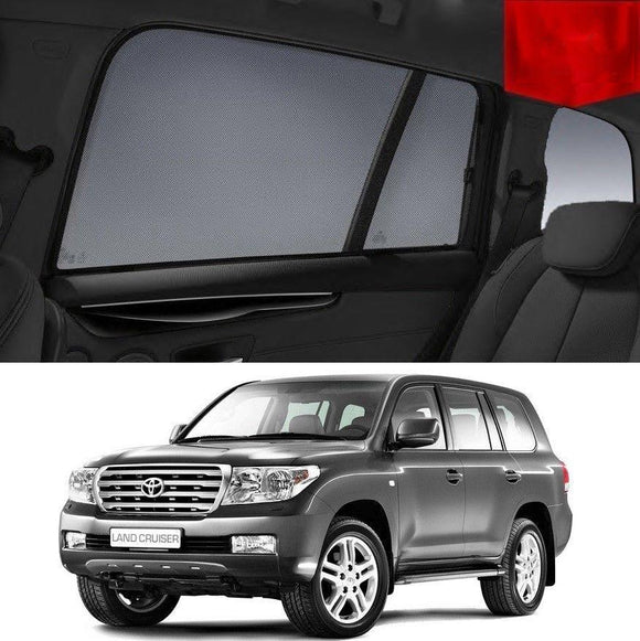 TOYOTA Landcruiser 2007-2016 200R   Car Shades | Snap On Magnetic Sun Shades Window Blind
