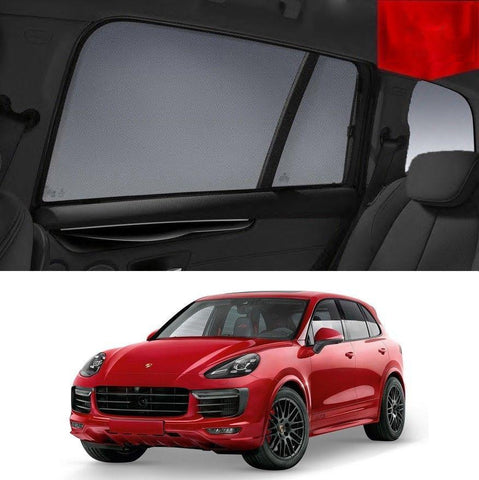 For Porsche Cayenne 2010 - 2018 958 Rear Side Car Window Sun Blind Sun Shade Mesh